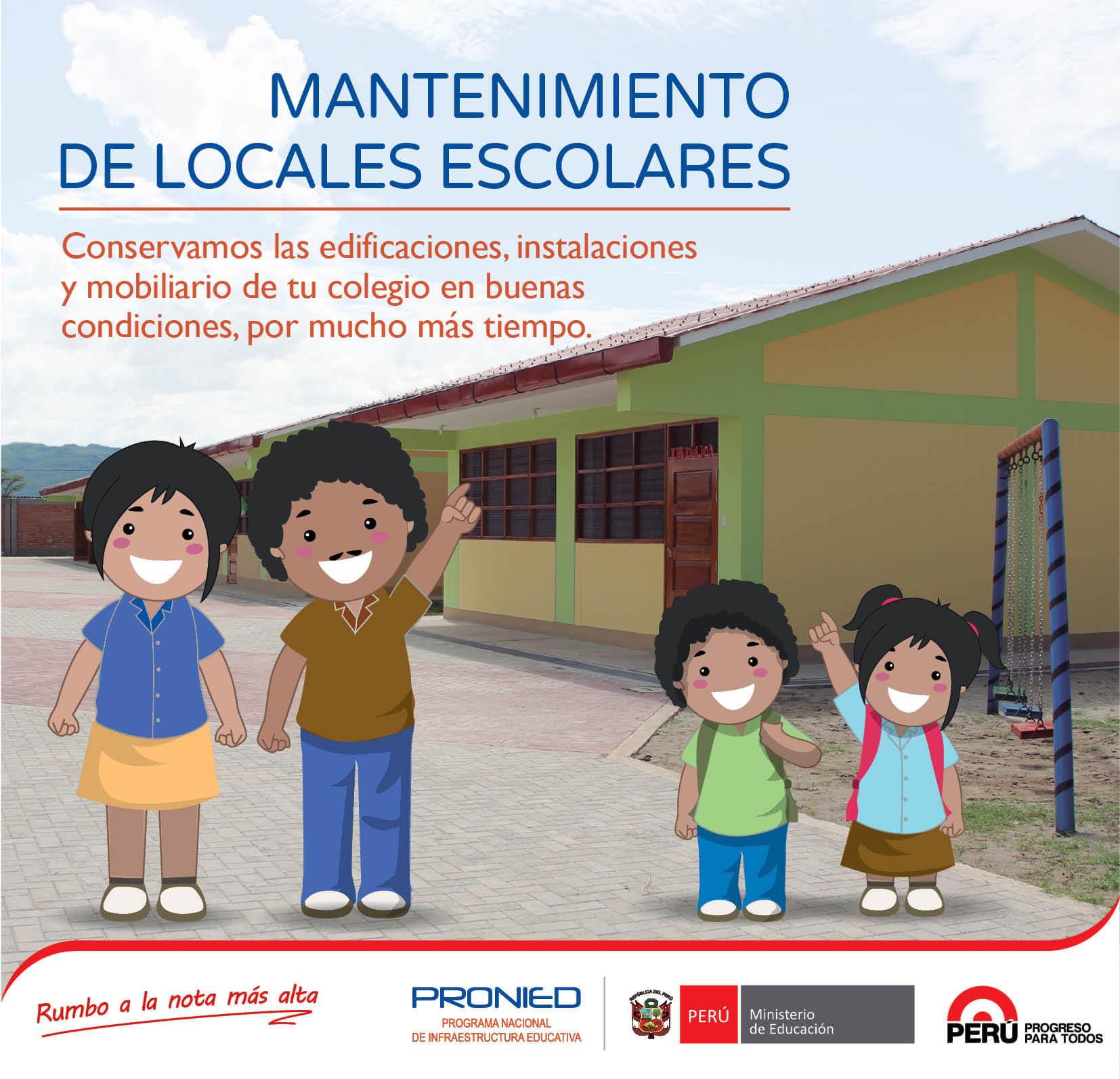 SE COMUNICA CON URGENCIA A TODOS LOS DIRECTORES RESPONSABLES DEL MANTENIMIENTO DE LOCALES ESCOLARES  PARA EL PERIODO 2017-I