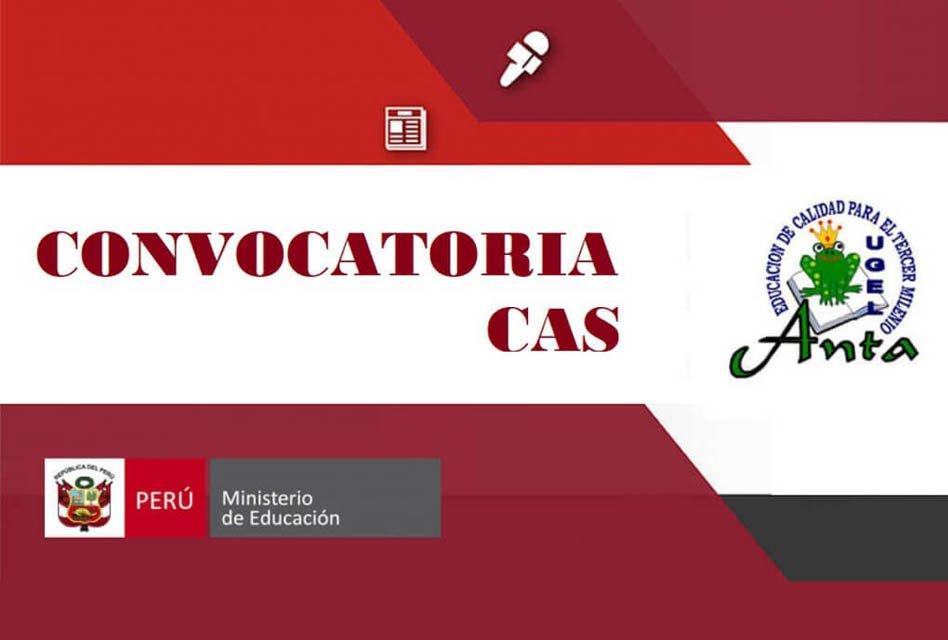 """CONVOCATORIA CASNº 018 – 2018 PARA LA UE 315 EDUCACIÃ""""N ANTA"""