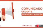 COMUNICADO IMPORTANTE Se comunica a los auxiliares adjudicados pueden recoger su Resolución Directoral hoy a las 02:00 de la tarde en instalaciones de la UGEL Anta o comunicarse con el Sr Elvis al número 984534288