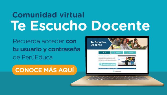 "<a href=""https://www.perueduca.pe/docentes/noticias-2021/08/minedu-lanza-comunidad-virtual-te-escucho-docente"">Minedu lanza comunidad virtual Te Escucho Docente </a> <p><span style=""background: #ffc33e;color: #b36929;cursor: pointer;display: inline-block;-moz-transform: scale(1,1);-moz-transform-origin: left center;font-size: 14px;padding: 5px 10px;border-bottom: 3px solid #f39c12;-moz-box-sizing: border-box;-webkit-box-sizing: border-box;width: 100%;text-align: center;margin-bottom: -7px;border-radius: 3px;""><strong><a href=""https://www.perueduca.pe/docentes/noticias-2021/08/minedu-lanza-comunidad-virtual-te-escucho-docente""> Leer más</a></strong></span></p>"